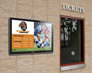 affichage numérique retail ticket