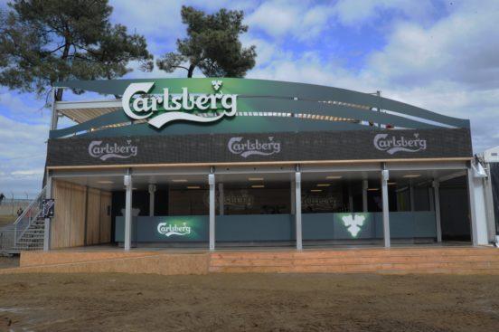 Enseigne lumineuse extérieure Carlsberg